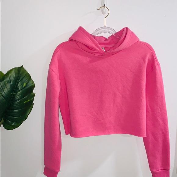 Cropped Pink Hoodie Small-Medium NWOT